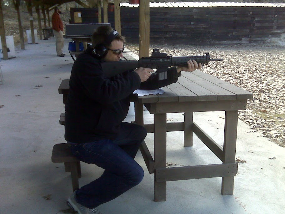Jason with the SIG 556
