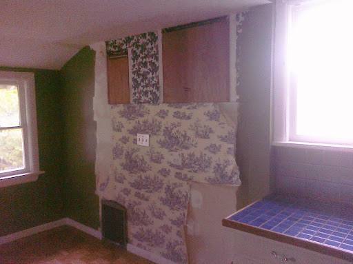 Remove wallpaper, replace drywall