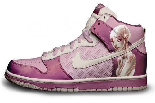 Gambar : Nike-shoes-design-anime-pink