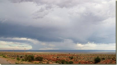 Storm building over Kaibab Plateau from Hwy 389 east Arizona