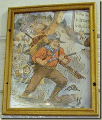 Teddy Roosevelt old cartoon in Roughrider Saloon Grand Lodge North Rim Grand Canyon National Park Arizona