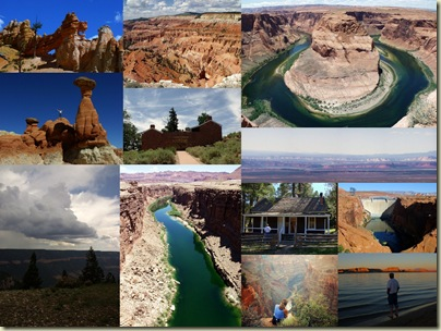 Collage of places in the Southwest