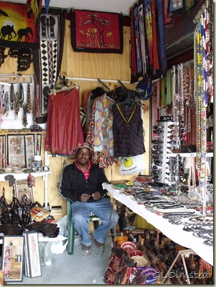 Vendor in stall Hermanus Western Cape South Africa