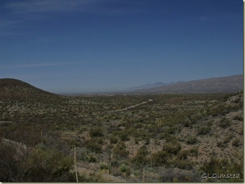View back out of park Colossal Cave Mountain Park Vail Arizona