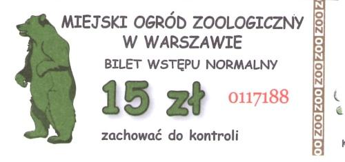 Jeszcze do niedawna bilet normalny do warszawskiego zoo kosztował 15 zł - obecnie kosztuje już 16 zł
