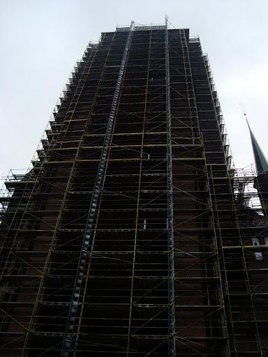 Remont wieży Bazyliki Mariackiej