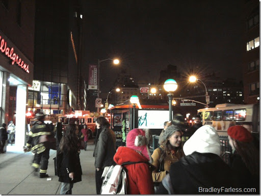 Emergency vehicles outside Union Square station.