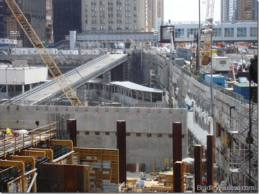 The site of the former World Trade Center, New York City, May of 2008.