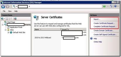 ADFS - IIS - cert request - markup