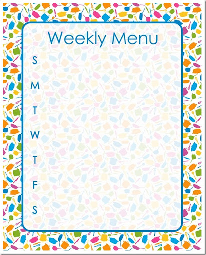 Weekly Menu - BLUE - Sprik Space