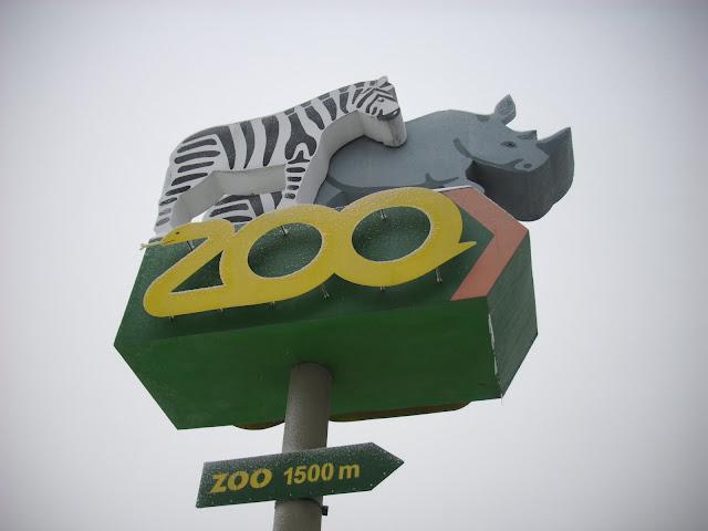 Znak, że do zoo jeszcze daleko...