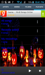 Halloween Theme Music Player screenshot 0