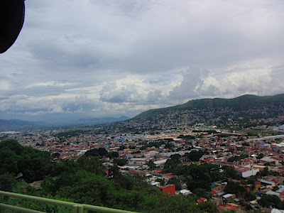 arriving in Oaxaca City...very pretty place among the mountains, aside from the abundance of slums (sadly Oaxaca is the poorest state in Mexico, but you wouldnt know it from the centro area)