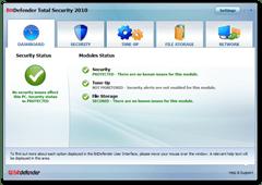 screenshot bitdefender 2010