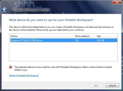 imagem windows 8 portable workspace