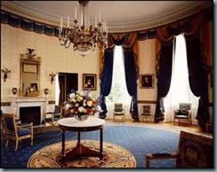 Sala azul da casa branca