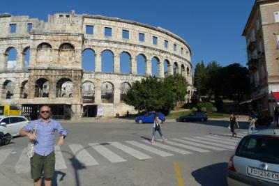 Roman ampitheatre in Pula.
