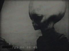 Extraterrestre em filmagem.