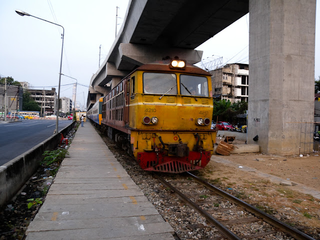 Pattaya Train Entering Asoke Station