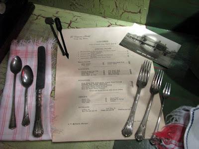 Vintage Resturant menu