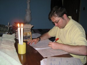 Marking by candlelight
