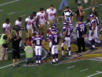 Its still weird to see Favre as a Viking.  But after this game Id be a believer.