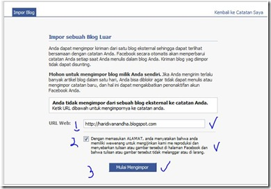 Facebook Note's Import Blog