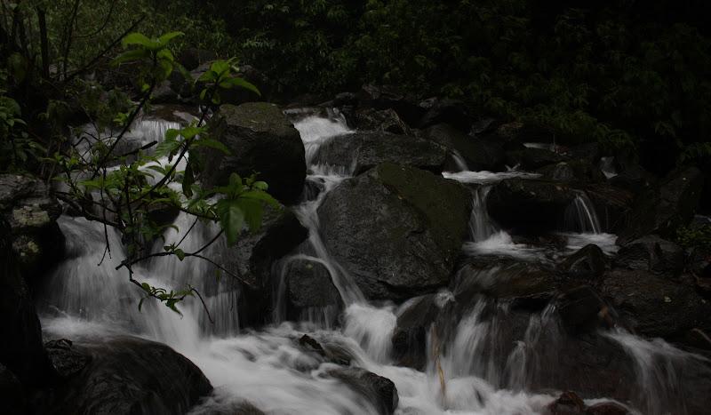 Beautiful Waterfall behind the resort