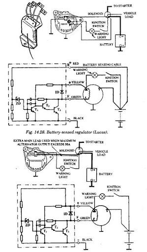 lucas tractor ignition switch wiring diagram cb radio microphone regulator -
