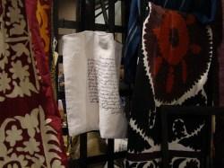 The Estate of Things chooses Suzani, Screent Print, feed sak linen