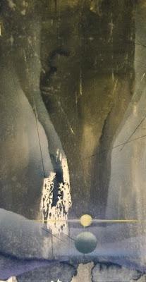 Figure e spazi celati nel dettaglio di una tela