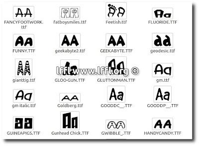 [Raccolta] 177 Fantastici Font dedicati ai Cartoni (Linux