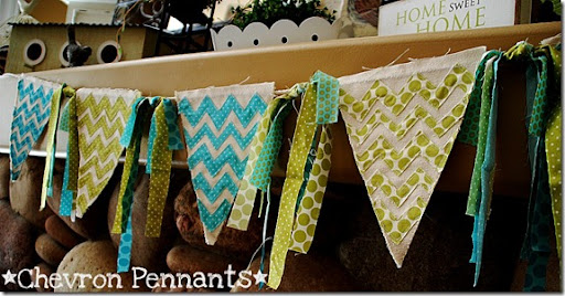 chevron pennants all in a row