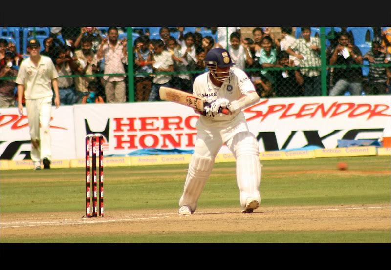 Sachin showing the magic at chinnaswamy stadium