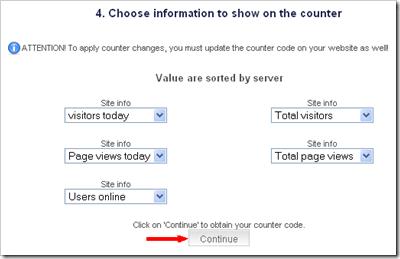 Statistik blog widget gratis dari histats 06