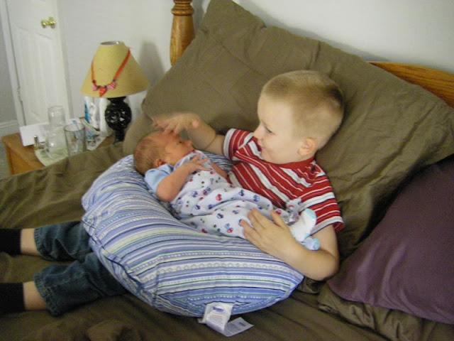 Jeremy holding Jesse