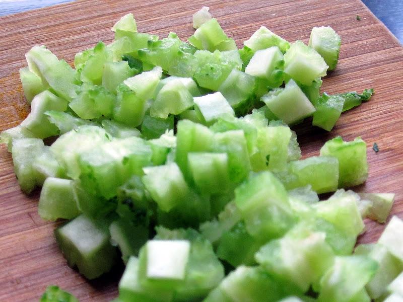 chopped karela