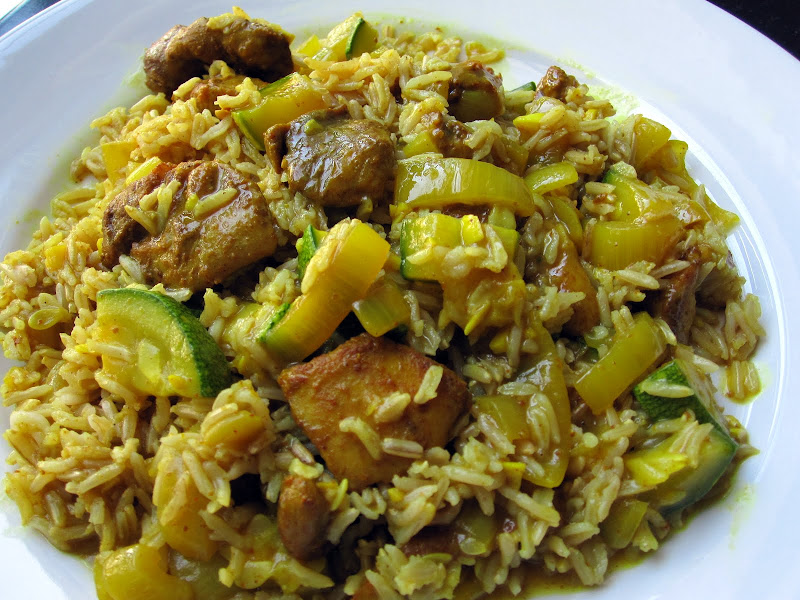 indian zucchini and chicken