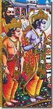Rama and Lakshmana with father Dashratha