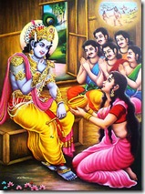 Draupadi feeding Krishna