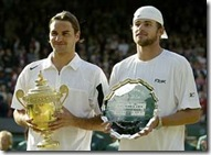 Federer and Roddick - 2004 Wimbledon