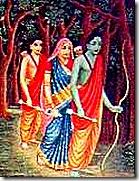 Rama Lakshmana and Sita in exile