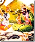 Krishna speaking to Nanda