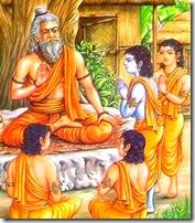 Lord Rama in gurukula