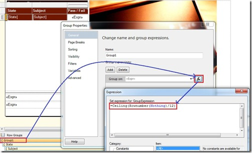 SSRS Limit rows in a page