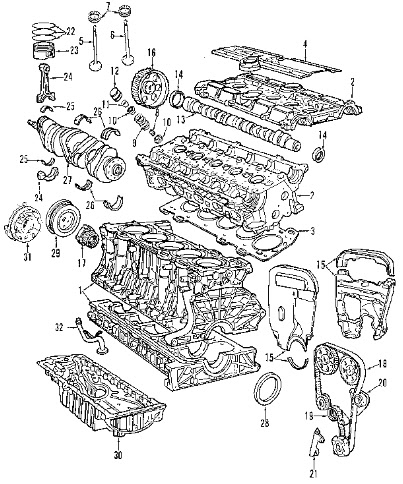 Volvo engine diagram :: Volvo S40 engine diagram :: Engine