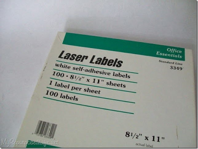 full sheet labels for printing on fabric