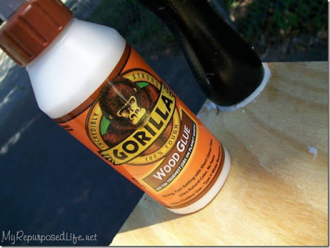 use gorilla wood glue to add legs to furniture