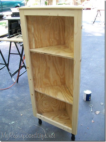 diy corner cabinet made from plywood
