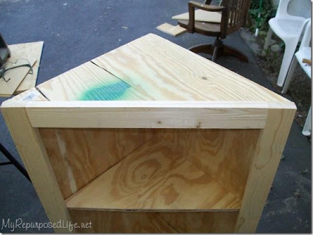 DIY corner cabinet from scratch